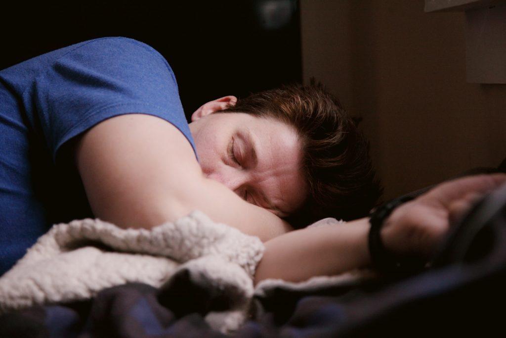 man with obstructive sleep apnea